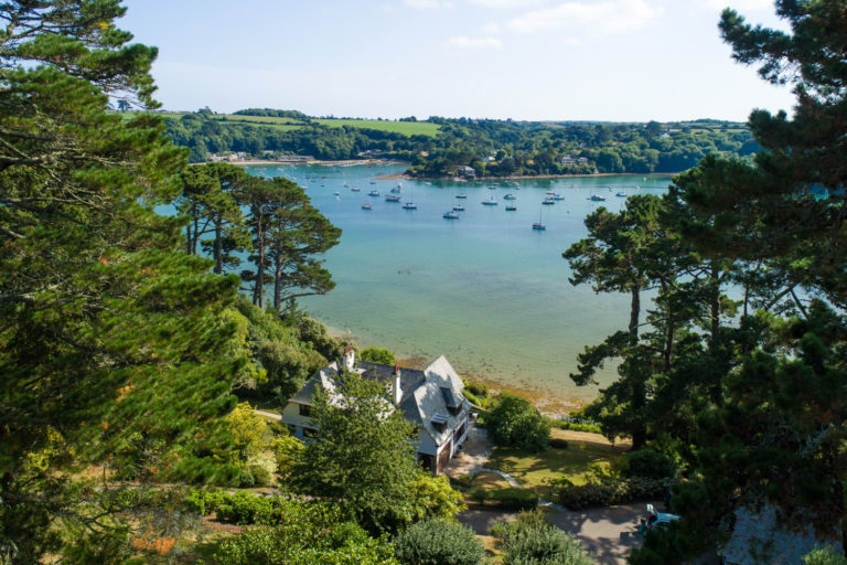 Ridiarne, a detached waterside house on the bank of the Helford River